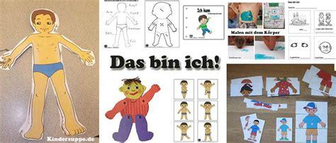 Projekt Das bin ich und mein Körper Ideen fur Kindergarten