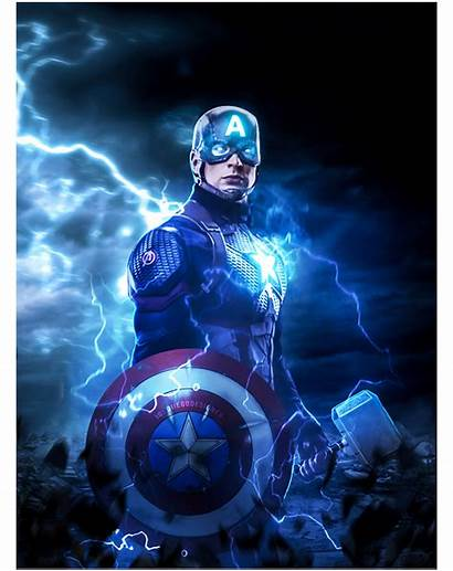Captain America Mjolnir Hammer Shield End Endgame