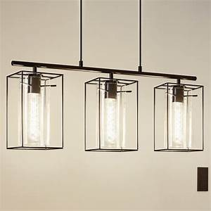 Eglo loncino triple pendant light in black with