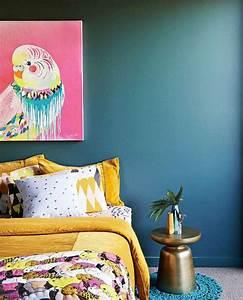 Déco Chambre Bleu Canard : 1001 id es cr er une d co en bleu et jaune conviviale ~ Melissatoandfro.com Idées de Décoration