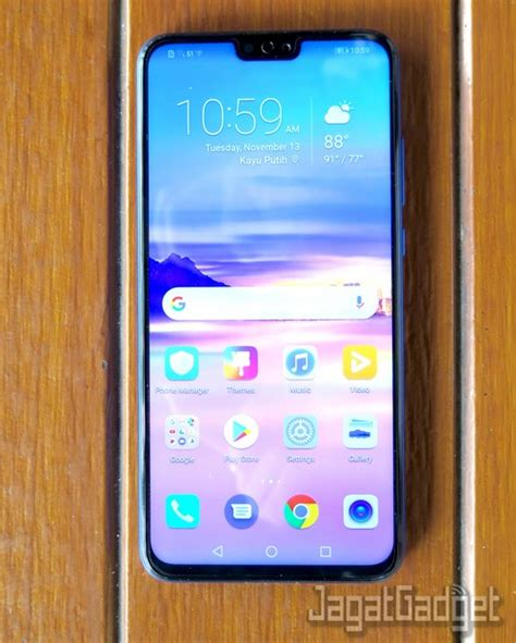 review smartphone android honor  jagat gadget