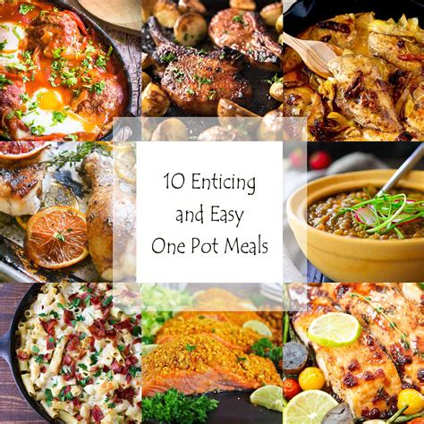 easy one pot dinners 10 enticing and easy one pot meals just a little bit of bacon