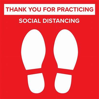 Distancing Social Floor Decal Covid Sticker Distance