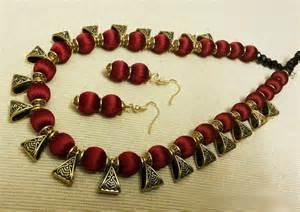 jhumka earrings uk maroon silk thread jewelry set necklace and earrings set silk