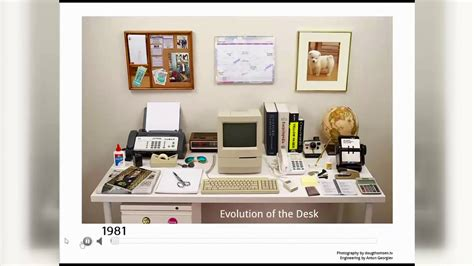 The Desk by The Evolution Of The Desk A Visualization Of How