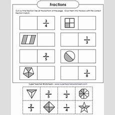 Just An Easy, Fun Cutandglue Activity For Reviewing Basic Fractions  Math  Super Teacher