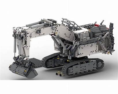 Moc Lego R9800 Backhoe Build Rebrickable Followers