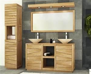 Meuble Vasque Bois Salle De Bain : vente meuble de salle de bains teck 140 walk meuble en ~ Teatrodelosmanantiales.com Idées de Décoration
