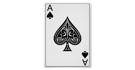 Baby Shower Magnets by Ace Of Spades Playing Poker Card Poster Zazzle