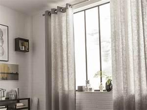 rideau voilage vitrage et rideaux sur mesure leroy merlin With voilage pour porte fenetre coulissante