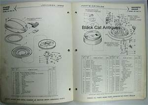 1960 Johnson Outboard Motor Parts Catalog 5 5 Hp Sea