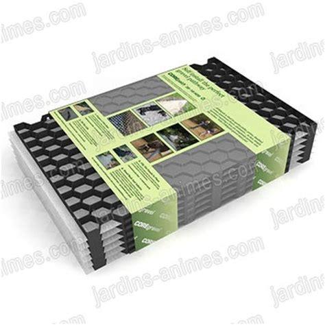plaque stabilisation gravier noir 57 5cmx40cm xhaut 18mm lot de 6 1 38 m2 100 recycl 233 all 233 e