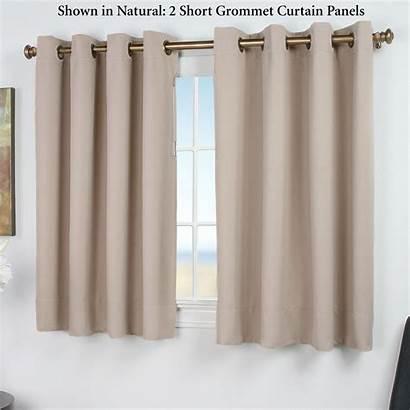 Curtains Grommet Blackout Curtain Short Panels Panel