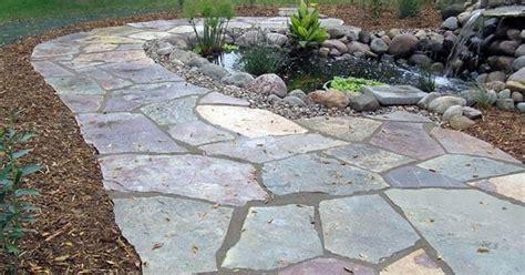 slate walkway cost diy flagstone walkway installation tutorial charming