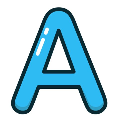 letter a png a alphabet blue letter letters icon icon search engine 37457