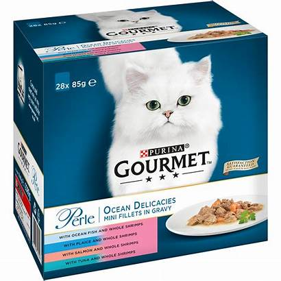 Gourmet Cat Packaging Perle Purina Ocean Delicacies