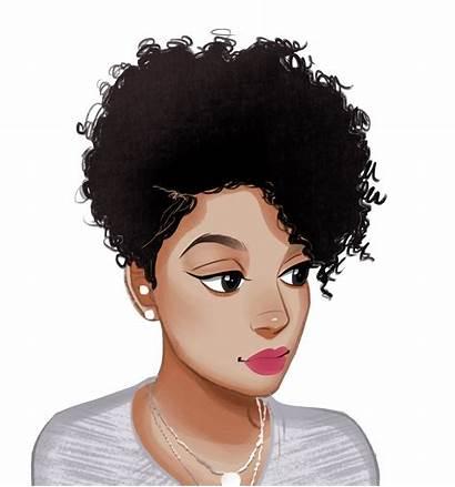 Afro Hair Magic Natural Woman African Urban