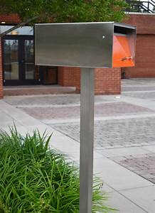 Mailbox, Post, -, Stainless, Steel