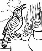 Coloring Bird Pages Crow Birds Far Away Birdhouse Printable Learning Colouring Sheets Never Animals 321coloringpages Fox Books Coloringpages101 Getcolorings Angry sketch template