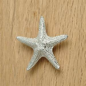 Silver Starfish Cabinet Knobs : Cabinet Hardware Room