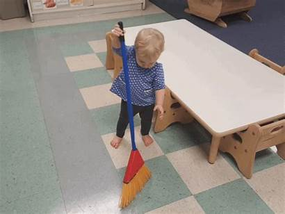 Clean Classroom Sweep Leave She Helping Grace