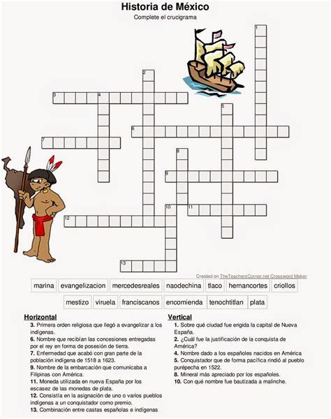 Crucigrama Expediciones Españolas y Conquista de México