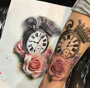 Tatouage Horloge Dessin : 64 best tatouage pour femme images on pinterest tattoos for women gorgeous tattoos and animal ~ Melissatoandfro.com Idées de Décoration