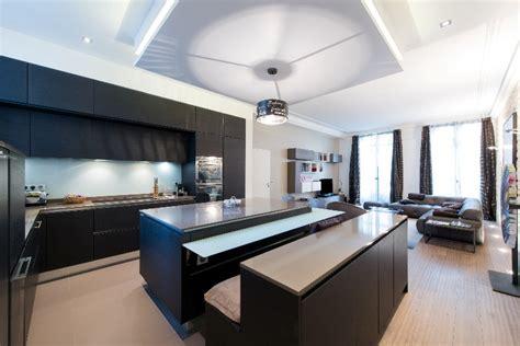 cuisine ouverte sur salon 30m2 amenager cuisine salon 30m2 modele de cuisine ouverte