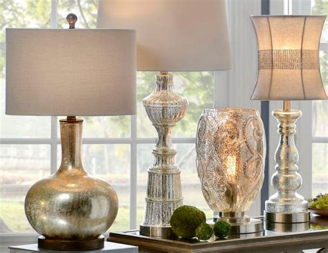 Contemporary Mercury Glass Table Lamps For Luxury Room