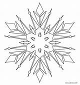 Snowflake Coloring Printable Cool2bkids Winter sketch template