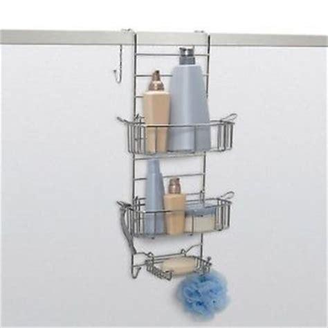 Lifestyle Home The Door Bath Organizer by Adjustable Shower Door Soap Shoo Holder Caddy Rack