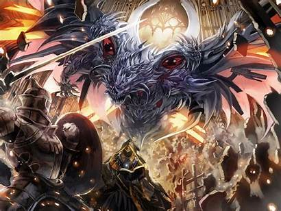 Wallpapers Epic Anime Battle Demon Armor Sword