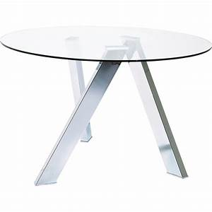 Table Verre Ronde : table design en verre mikado kare design ~ Teatrodelosmanantiales.com Idées de Décoration