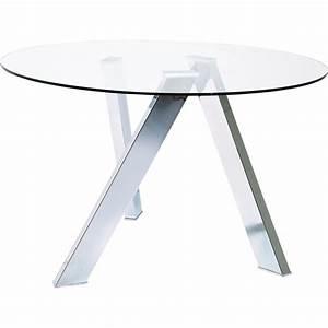 Table En Verre Ronde : table design en verre mikado kare design ~ Teatrodelosmanantiales.com Idées de Décoration