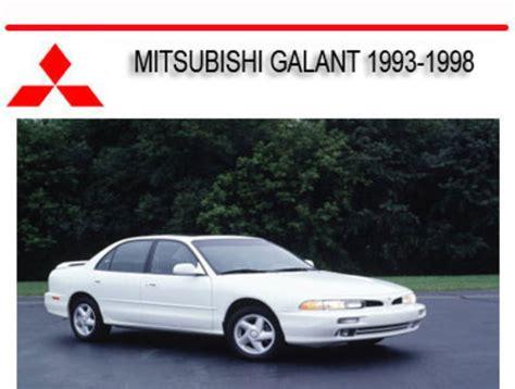 car owners manuals free downloads 1993 mitsubishi galant instrument cluster mitsubishi galant 1993 1998 repair service manual download manual