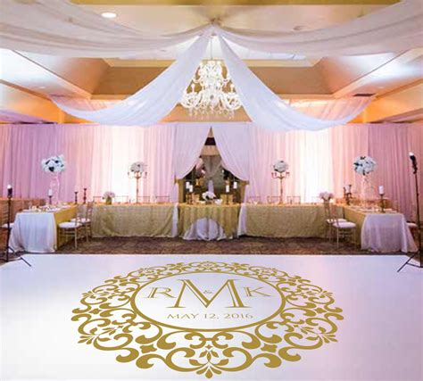 floor decor for weddings wedding dance floor decalvinyl decal wedding decor wedding