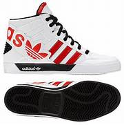Adidas Shoes High Tops Red Brghsll   FOOTWEARPEDIA  Adidas Shoes High Tops Red
