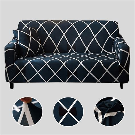 Living Room Seat Covers by Plaid Sofa Cover Elastic Sofa Covers For Living Room