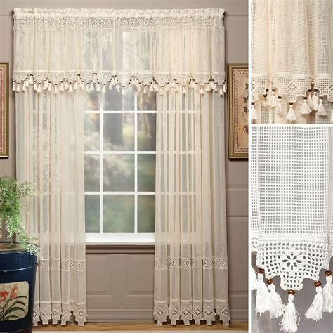 Sheer Window Treatments by Gettysburg Cotton Sheer Window Treatments
