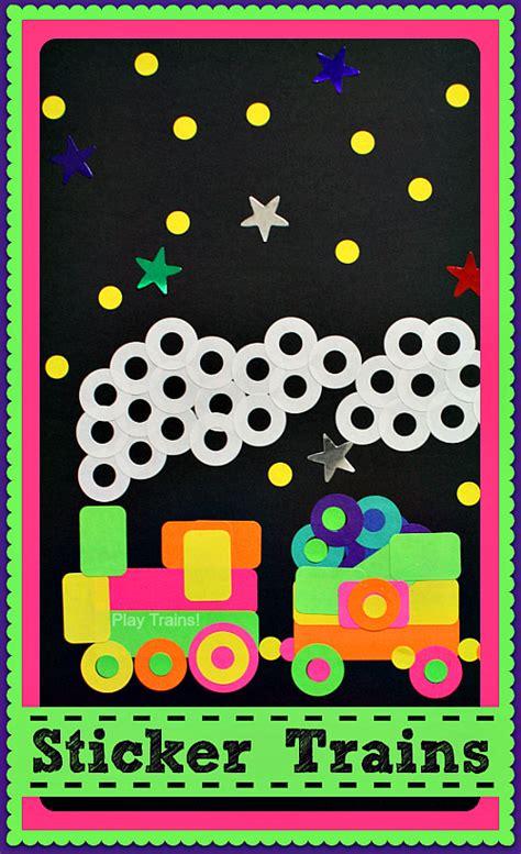 Sticker Train Craft For Kids  Play Trains