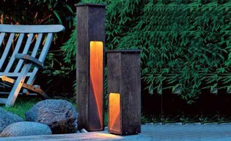Gartenleuchte Aus Holz Und Kupfer