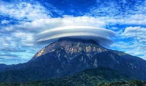 awan berbentuk topi  gunung kinabalu fenomena biasa