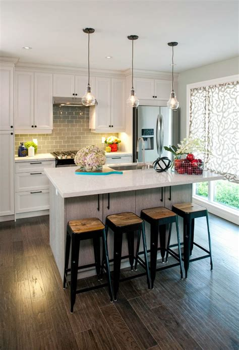 small white kitchen island room transformations from the property brothers hgtv
