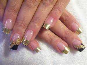 Gold french nails nail designs picture