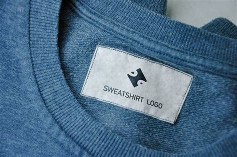 kaos neck neck and sweatshirt label mockups mockupworld