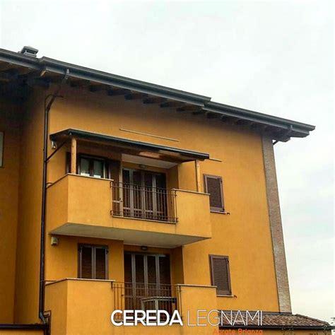 Tettoia Balcone tettoia addossata su balcone cereda legnami agrate brianza