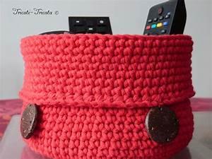 Corbeille Au Crochet : d co crochet corbeille 2 tricoti tricota ~ Preciouscoupons.com Idées de Décoration
