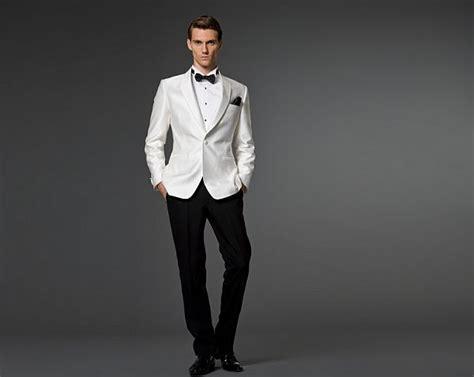 { White Tuxedo Jacket, Black Bow Tie