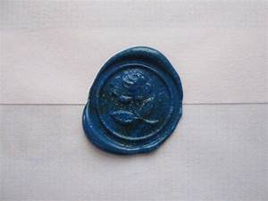 blue rose wax letter seal wax letter seal pinterest With letter seal stamp