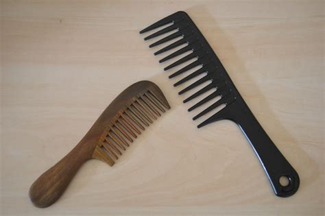 wooden  plastic wide tooth combs